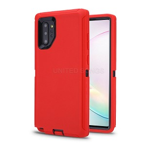 Samsung Galaxy Note 10 Plus New Heavy Duty Defender Case Red/Black
