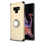 Samsung Galaxy Note 9 New Hybrid Case With Ring Holder Kickstand Gold