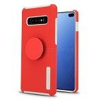 Samsung Galaxy S10 Plus New Pop Holder Impact Protective Case Red/White