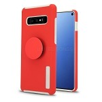 Samsung Galaxy S10 New Pop Holder Impact Protective Case Red/White