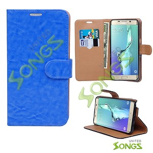 Samsung Galaxy S6 Edge Plus Wallet Case Blue