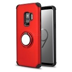 Samsung Galaxy S9 New Hybrid Case With Ring Holder Kickstand Red