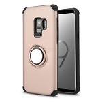 Samsung Galaxy S9 New Hybrid Case With Ring Holder Kickstand Rose Gold