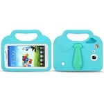 Samsung Galaxy Tab A 7.0 T280/3 Lite T110/T116 New Shirt & Tie Style Protective Case With Handle & Stand Blue