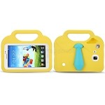 Samsung Galaxy Tab A 7.0 T280/3 Lite T110/T116 New Shirt & Tie Style Protective Case With Handle & Stand Yellow
