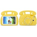 Samsung Galaxy Tab A 7.0 T280/3 Lite T110/T116/T230/T210 New Telephone Style Protective Case Yellow