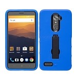 ZTE Max XL N9560/ZMax Pro Z981/ Blade X Max Z983 Heavy Duty Case With Kickstand Blue/Black