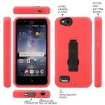 ZTE Tempo X N9137 Heavy Duty Case With Kickstand Red/Black