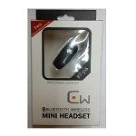 Bluetooth Wireless Mini Headset Black