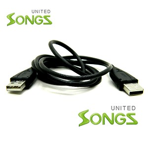 USB A-Male to A-Male Cable Black