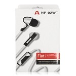 HP02 High Performance Earphones with Mic & Remote White