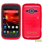 ZTE Concord II Z730(T-mobile, MetroPCS) TPU(Gel) Case Red