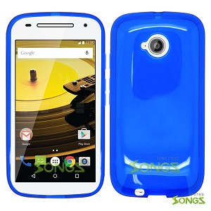 Motorola E(2nd-Gen) TPU(Gel) Case Blue