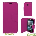 Alcatel One Touch Evolve 2/4037 Wallet Case Pink