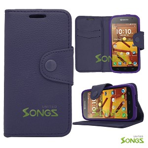 Kyocera Hydro ICON C6730(Boost Mobile) Hydro LIFE C6530(T-Mobile) Wallet Case Purple