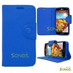 LG LS740 Volt F90 (Sprint/Boost Mobile/Virgin Mobile) Wallet Case Blue