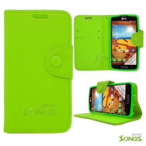 LG LS740 Volt F90 (Sprint/Boost Mobile/Virgin Mobile) Wallet Case Green