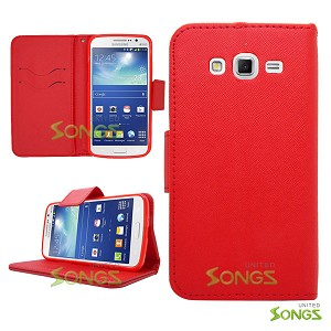Samsung Galaxy Grand2 G7106 Wallet Case Red