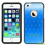 iPhone 5 Metal Stars Case Blue/Black