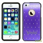 iPhone 5 Metal Stars Case Purple/Black