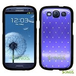 Samsung Galaxy S3 S III i9300 Metal Stars Case Purple/Black