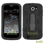 ZTE Flash N9500 Heavy Duty Case with Kickstand  Black/Black