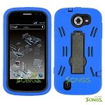 ZTE Flash N9500 Heavy Duty Case with Kickstand  Blue/Black
