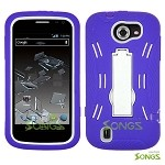 ZTE Flash N9500 Heavy Duty Case with Kickstand  Purple/White