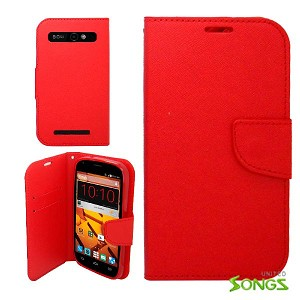 ZTE  Warp Sync/N9515 Wallet Case Red