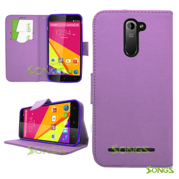 Blu Studio 6.0 LTE Y650Q Wallet Case Purple