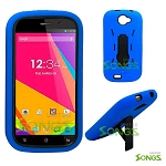 BLU Studio 5.0K/5.0E D530K Heavy Duty Case with Kickstand Blue/Black