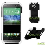 HTC ONE M8 Hybrid Case with Kickstand Black/White
