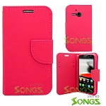 Alcatel One Touch Evolve/5020T Wallet Case Hot Pink