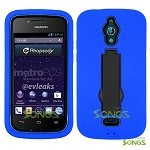 Huawei Vitria H882L(MetroPCS, Straight Talk) Y301 A2 Heavy Duty Case with Kickstand Blue/Black
