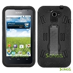 Huawei Premia 4G M931 Heavy Duty Case with Kickstand Black/Black