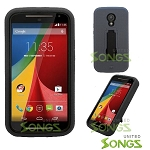 Motorola G(2nd-Gen) Heavy Duty Case With Kickstand Black/Black