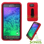 Samsung Galaxy Alpha G850 Heavy Duty Case With Kickstand Red/Black