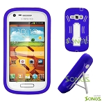 Samsung Galaxy Prevail 2 (Boost Mobile) Galaxy Ring (Virgin Mobile) M840 Heavy Duty Case with Kickstand Purple/White