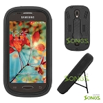 Samsung Galaxy Light T399 Heavy Duty Case with Kickstand Black/Black