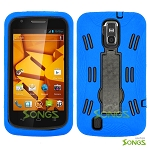 ZTE Force N9100 Heavy Duty Case with Kickstand Blue/Black