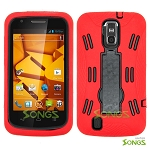 ZTE Force N9100 (Sprint, Boost Mobile) Heavy Duty Case with Kickstand Red/Black