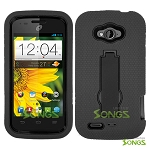 ZTE Savvy Z750C/AWE N800 Heavy Duty Case with Kickstand Black/Black