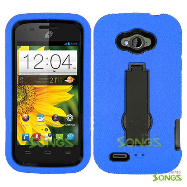 ZTE Savvy Z750C Heavy Duty Case with Kickstand Blue/Black