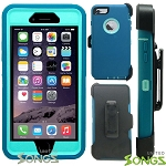 iPhone 6S Plus/6 Plus Heavy Duty Case With Screen Protector & Clip Ocean Blue/Ocean Blue