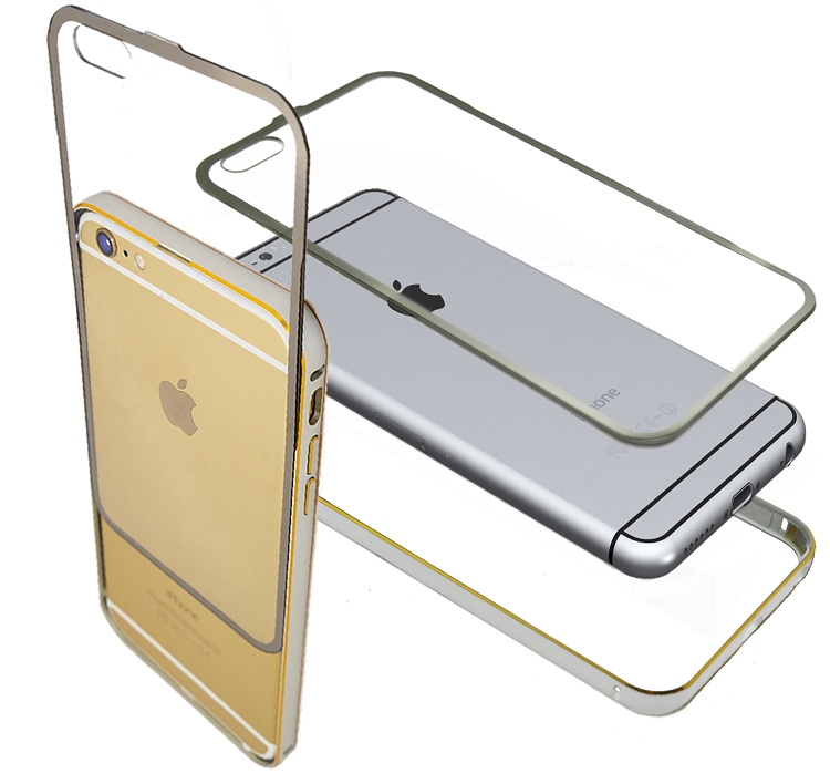 iPhone 6S Plus/6 Plus Metal Bumper With Full Protection Silver Case
