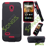 Alcatel OneTouch Conquest Super Combo with Clip Case Black/Red