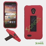 Alcatel One Touch Conquest 7046T Heavy Duty Case with Kickstand Red/Black