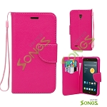 Alcatel OneTouch Conquest 7046T Wallet Case Hot Pink