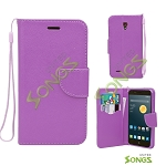 Alcatel One Touch Conquest 7046T Wallet Case Purple