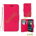 Alcatel One Touch Conquest 7046T Wallet Case Red